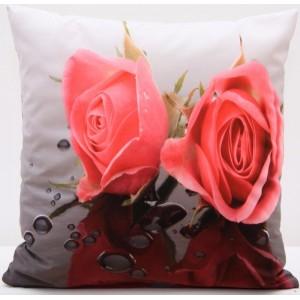 Kvalitní povlak na polštář s motivem růže
