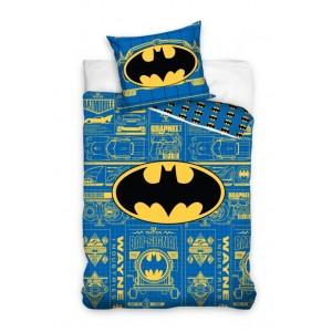 Modré dětské bavlněné ložní povlečení BATMAN