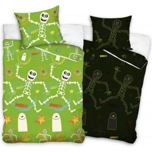 Zelené bavlněné dětské povlečení svítící ve tmě