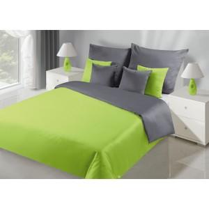 Kvalitní oboustranný ložní prádlo v šedě zelené barvě