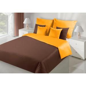 Krásné oboustranné ložní povlečení v hnědo oranžové barve
