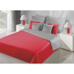 Kvalitní oboustranné ložní povlečení v červeno šedé barve