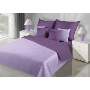 Dvoubarevné oboustranné ložné povlečení fialové barvy