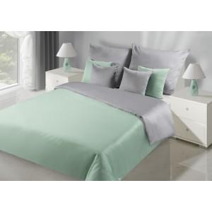 Oboustranné ložní prádlo zeleno stříbrné barvy