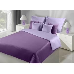 Kvalitní dvoubarevné oboustranné ložní povlečení ve fialové barvě
