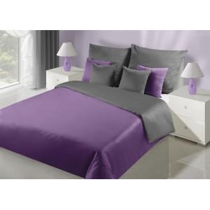 Oboustranně ložní prádlo fialovo šedé barvy