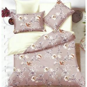 Oboustranné ložní prádlo v béžovo krémové barve