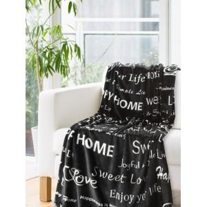 Moderní deka v černé barvě