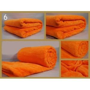 Hrubá luxusní deka pomerančové barvy