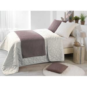 Francouzský přehoz na postel krémové barvy
