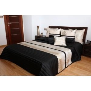 Luxusní černo zlaté přehozy na manželskou postel