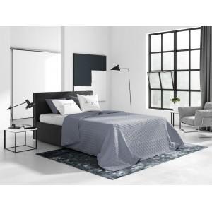 Oboustranný přehoz na manželky postel v šedé barvě