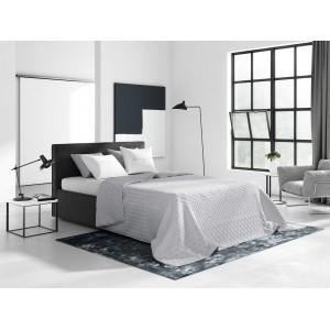 Elegantní přehoz na manželskou postel v světle šedé barvě
