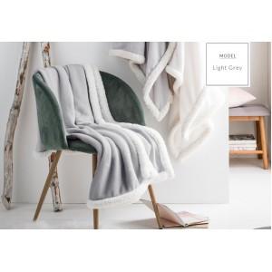 Kvalitní francouzská deka šedé barvy s bílým lemováním