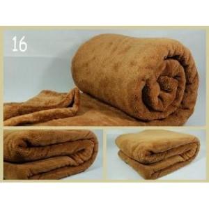 Luxusní deky z mikrovlákna rozměr 160 x 210cm karamelova č:16