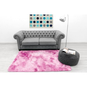 Príjemný plyšový koberec svetlo ružovej farby
