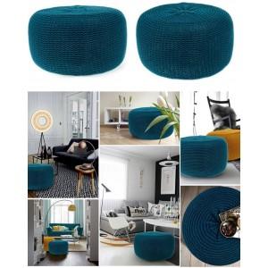 Moderní nafukovací taburetky tmavě modré barvy