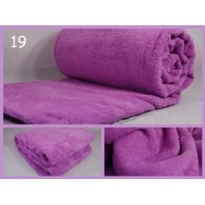 Luxusní deky z mikrovlákna rozměr 160 x 210cm  svetla fialová č.19