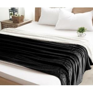 Černá luxusní deka s kožešinkou
