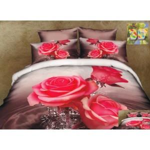 Luxusní povlečení 100% bavlněný satém s růžemi