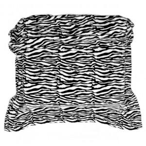 Černo bílá deka z mikrovlákna se vzorem zebra