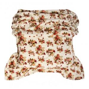 Krémová deka s květinovým vzorem