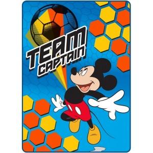 Fotbalová dětská deka s motivem Mickey mouse