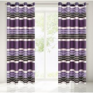 Luxusní dekorační závěsy fialové barvy