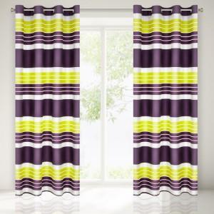 Moderní fialovo žlutý závěs do pokoje