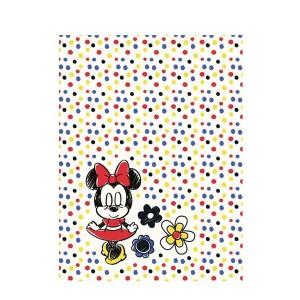 Tečkovaná dětská deka s myškou Minnie