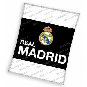 Real Madrid dětská deka černo bílé barvy