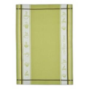 Kvalitní bavlněná kuchyňská utěrka zelené barvy
