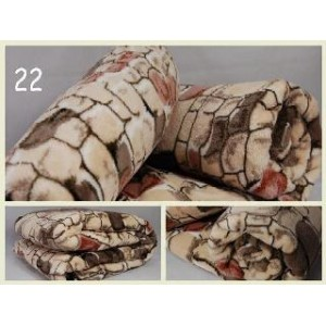 Luxusní deky z mikrovlákna rozměr 160 x 210cm kameň č.22