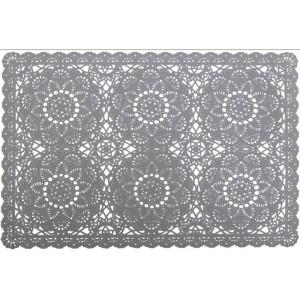 Krajkové prostírání na stůl v šedé barvě