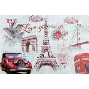 Vintage prostírání na stůl s motivem Eiffelovy věže