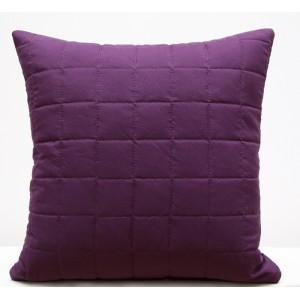 Tmavě fialové prošívané povlaky na polštář