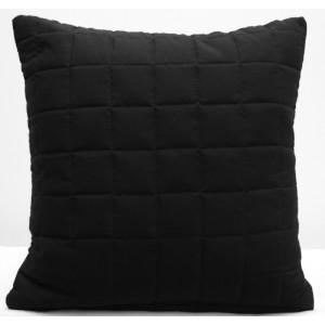 Černý ozdobní povlak na polštář 40x40