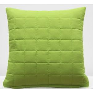 Zelený ozdobní povlak na polštář k přehozu