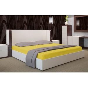 Prostěradlo na postel žluté barvy