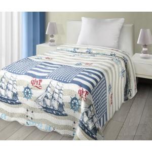 Oboustranný přehoz na postel s námořnickým motivem