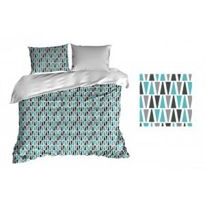 Povlečení na postel s tyrkysovým vzorem