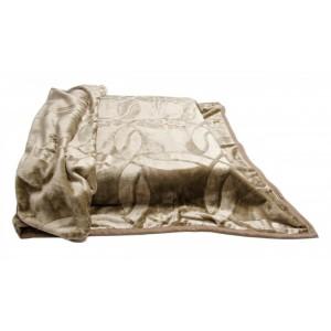 Španělská deka hnědé barvy s jemným potiskem