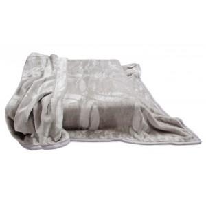 Španělská deka šedá s potiskem