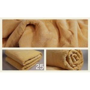Luxusní deky z mikrovlákna rozměr 160 x 210cm pieskova č.25