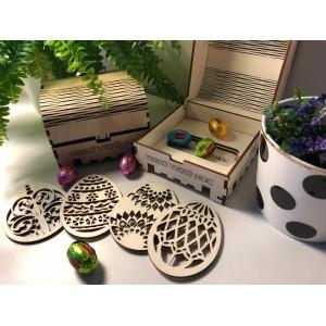 Set velikonočních vajíček z dřeva