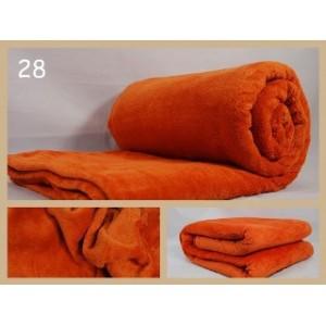 Luxusní deky z mikrovlákna rozměr 160 x 210cm  tehlova č.28