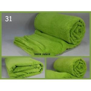 Luxusní deky z mikrovlákna rozměr 160 x 210cm jasná zelena č.31