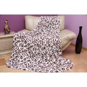Béžová luxusní deka z mikrovlákna