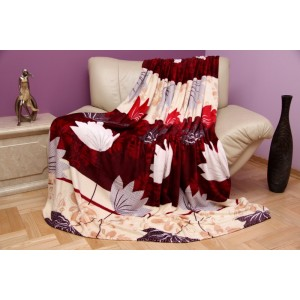 Španělská deka béžovo - bordó