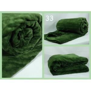 Luxusní deky z mikrovlákna rozměr 160 x 210cm zelena frote č.33